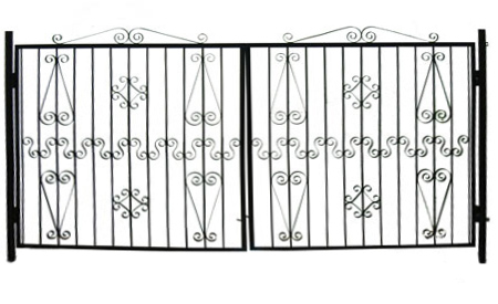 Ворота 3 метра с декоративными холоднокованными элементами