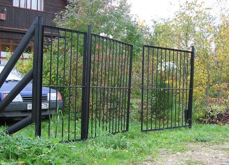 Ворота 3 метра с калиткой зашитые трубой